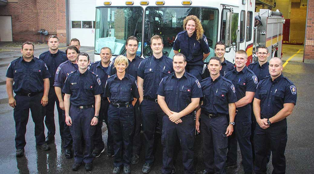 Volunteers from the Stittsville Fire Department. Photo by Barry Gray.)