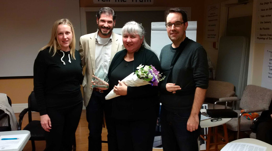 Hélène Rivest receives SVA Volunteer Award